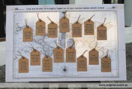 Boda viajes Mapa de mesas detalle
