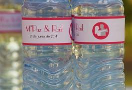 botellas de agua personalizadas boda