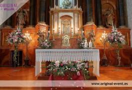 decoracion floral iglesia
