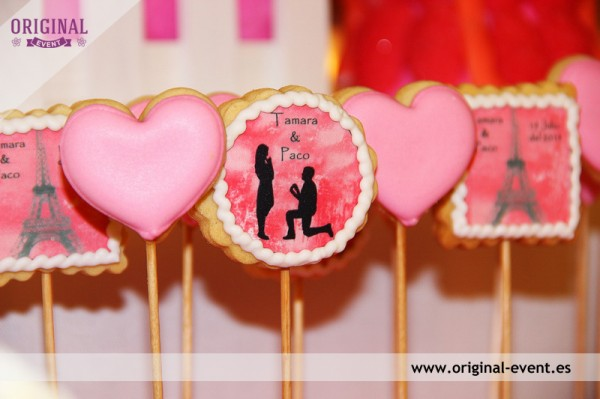 Galletas personalizadas candy bar mesa dulce