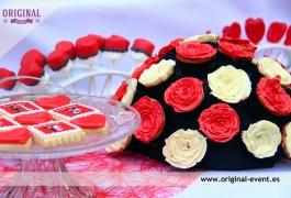 detalle bouquet de cupcakes