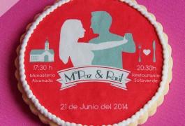 Galleta invitación boda original