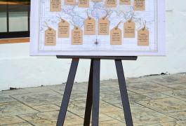 Boda viajes Mapa de mesas