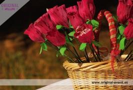 Cesta para flores para pétalos