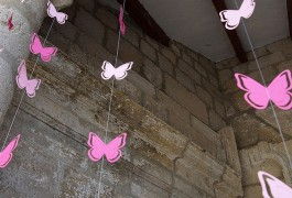 Cortina de mariposas decoración Iglesia