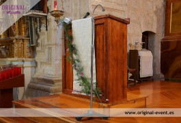 decoracion atril iglesia