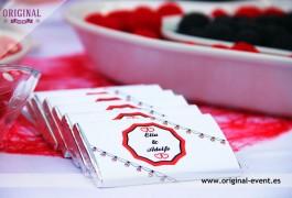 mesa dulce chocolatinas personalizadas